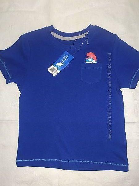 Новая футболка Lidl со Смурфами - р.98-104см