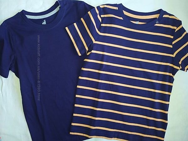Новый комплект футболок Lupilu - р.110-116см, 2шт.