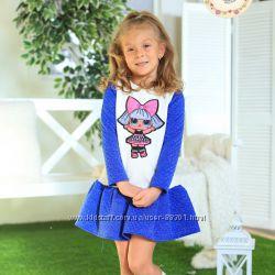 Нарядное платье с куклой Лол