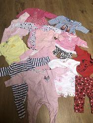 Одежда для малышки 0-3мес