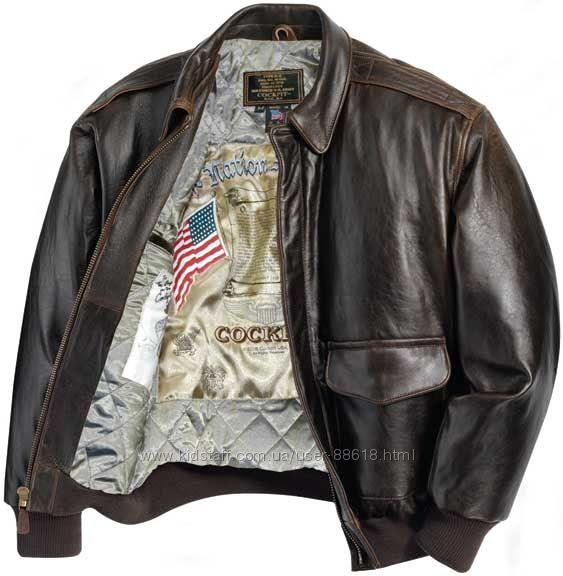 Американские лётные кожаные куртки Cockpit USA