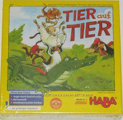 Tier auf Tier настольная игра Haba развивающая, пирамида из зверей
