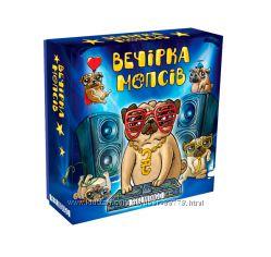Настольная игра Вечеринка мопсов, Вечірка Мопсів, Pug party веселая игра