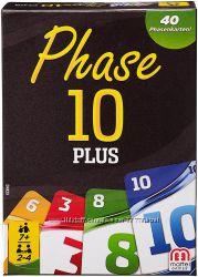 Игра Phase 10 Plus, Фаза 10 плюс Mattel оригинал