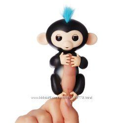 Интерактивная ручная обезьянка черная Финн WowWee. Оригинал