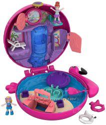 Polly Pocket World от Mattel 2018 Розовый фламинго Flamingo