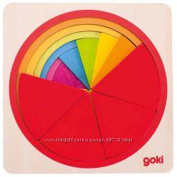 Пазл-вкладыш goki Круг 57737G, рамки -вкладыши Гоки, головоломка