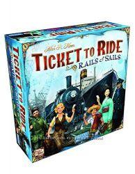 Настольная игра Билет на поезд Рельсы и паруса, Ticket to Ride Rails Sail