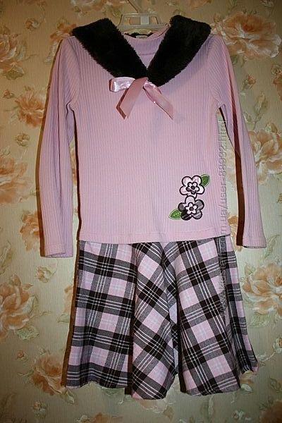 Нарядное платье с горжеткой на 5-8 лет колготки в подарок