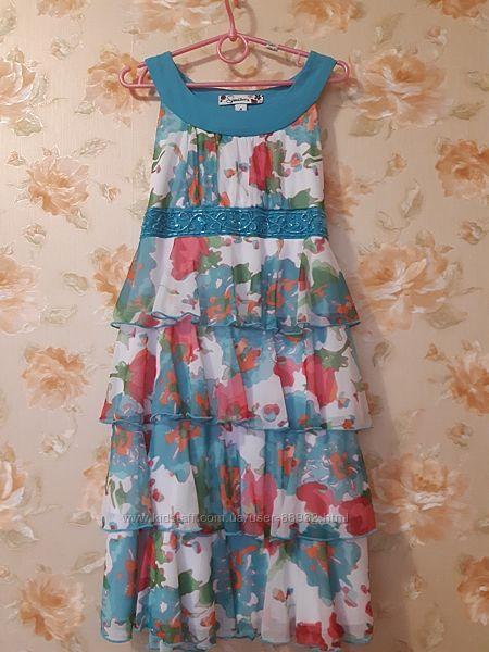 Нарядное шикарное платье на 6-8 лет из США