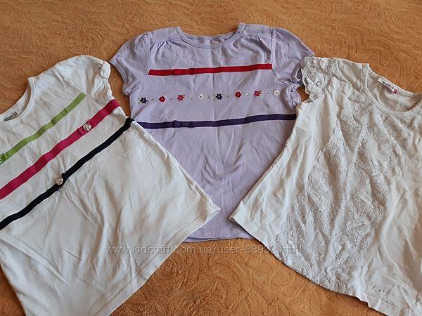 Школьные футболки блузки на 7-9 лет 3 по цене 1