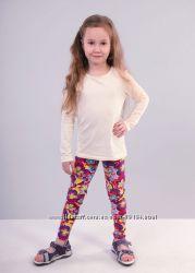 Хлопковые яркие лосины, леггинсы, бриджи для девочек от 3 до 12 лет