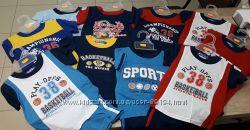 Хлопковые комплекты для мальчиков. Футболка и шорты