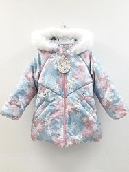 Комплект тёплый зимний куртка и полукомбинезон Снежинка Размеры 86-104