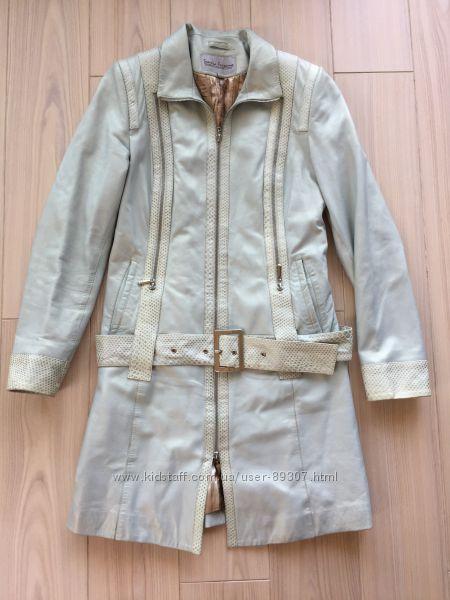 Кожаное пальто Sandro Ferremo Италия размер S
