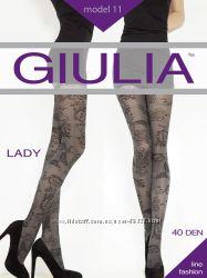 Колготки  GIULIA с узорами и классические, размеры 2, 3, 4.