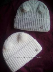 Стильные шерстяные шапочки для девочек
