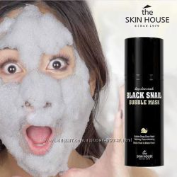 Кислородная маска The Skin House Black Snail Bubble Mask