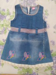 Джинсовый сарафан платье 3года