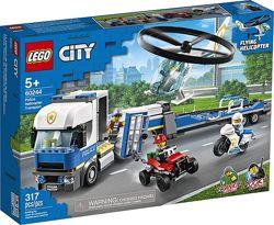 LEGO City Перевозка полицейского вертолета 60244