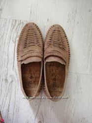 Кожаные летние туфли 45 размер Next