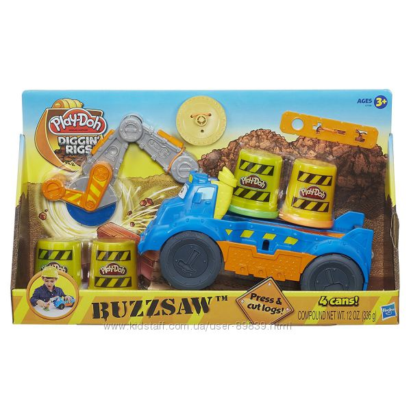 Наборы пластилина  Play-Doh  .  Учим буквы, Зубастик, Diggin rigs