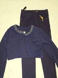 Штаны Yuke темносинего цвета для левочки, 158-164