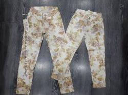 Модные котоновые брюки на девочку, р. 134, 140