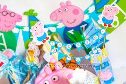 День Рождения в стиле  --  Peppa Pig- день Рождения Джорджа -- для мальчика