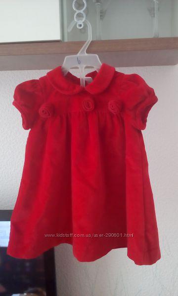 Платье Cool Club красное и синее. Рост 80 и 86. Суперцена.
