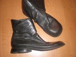 39. 5 - 25. 5 см  кожаные  удобные  сапожки  на  широкую  ножку ф. Every  Body