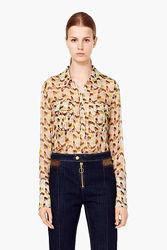 Рубашка MANGO шелк блуза