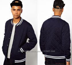 Куртка бомбер Asos синий XS хлопок