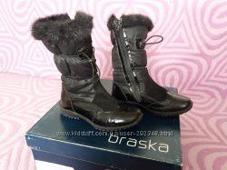 Cапоги зимние для девочки BRASKA р. 30 полностью натуральные