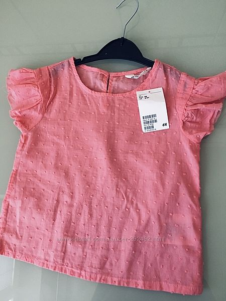 Топ блуза футболка h&m 2-3 года