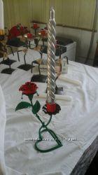 Подсвечники ручной работы, изделия кованые, подарок