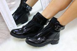 Стильные демисезонные ботинки кожа на байке 36-40