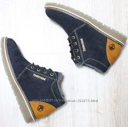 Ботинки изготовлены из натурального нубука и кожи. 40-45