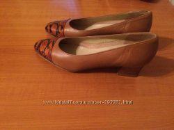Бежевые туфли, кожа, 36 размер