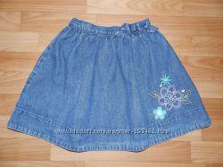 Красивая пышная джинсовая юбка Osh-Kosh р. 8  от 122 до 140 см
