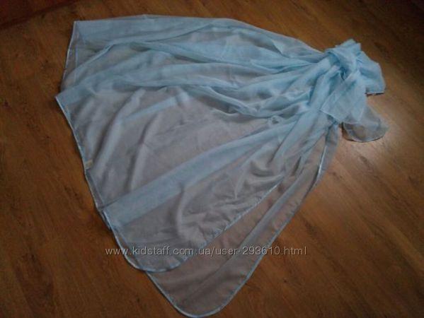 Новый балдахин на детскую кроватку нежно-голубого цвета