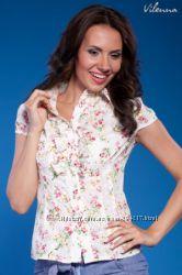 Красивая летняя блузка из легкого хлопка на р. 44-46