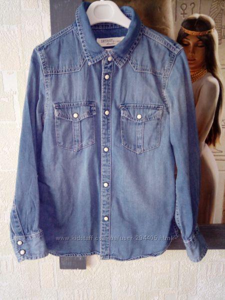 Джинсовая рубашка для мальчика размер 122