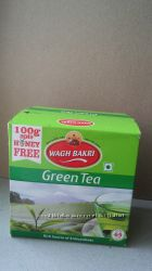 Индийский зеленый чай Wagh Bakri - листовой