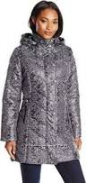 Big Chill Women&acutes Mid Length Puffer Coat, Charcoal, Small