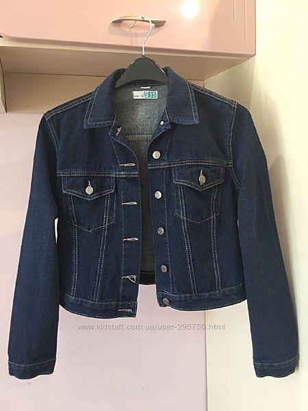 Пиджак джинсовый 164