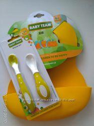 Нагрудник и Набор ложек Baby Team