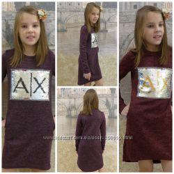 Ангоровое платье  и туника с паетками