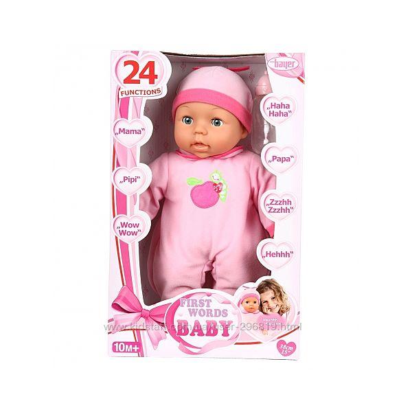 Кукла интерактивная  Bayer first words baby 24 functions bayer