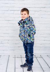 Демисезонные курточки для мальчиков на слимтексе. Три расцветки.